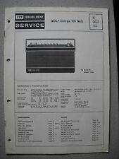 ITT/Schaub Lorenz Golf europa 101 Netz Service Manual, K003