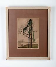 Nell Witters (American, 20th C) Landscape Etching