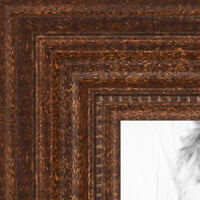 "ArtToFrames Custom Picture Poster Frame Brown Walnut stain 1.25"" Wide Wood"