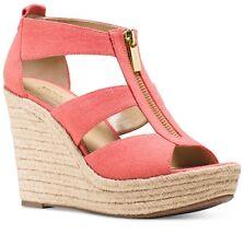 Michael Kors Platform Damita Wedge Sandals Pink Grapfruit, size: 11 M.