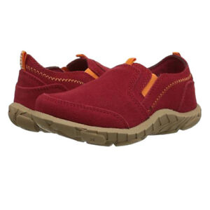 NEW Umi Girls Peyton Suede Slip-on Shoes Size 8.5 M US Toddler 25 EUR Red
