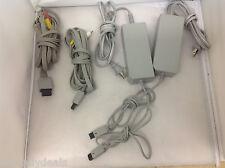 Lot of 2 Nintendo Wii AC Power Adapters RVL-002 / 2 Nintendo Wii AV RVL-009