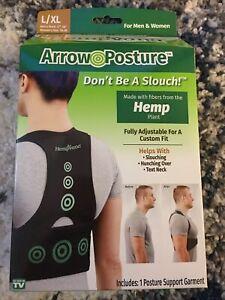 Hempvana Arrow Posture Support Garment made with Hemp Fiber L/XL NEW FREE SHIP