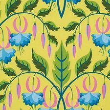 By 1/2 Yd Sweet Lady Jane Fuchsia Yellow/Teal ~ Free Spirit Jane Sassaman Fabric