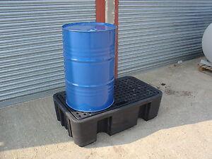 Oil Chemical Bunded Spill Pallet Tray  250 litre