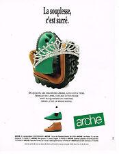 PUBLICITE ADVERTISING 074  1990   ARCHE   chaussures