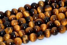 "4MM Natural Yellow Tiger Eye Gemstone Beads Grade AAA Round Loose Beads 15.5"""