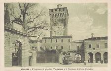 8448) VICENZA L'INGRESSO AL GIARDINO VALMARANA E IL TORRIONE DI PORTA CASTELLO.
