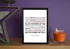 Framed - The Cure - Pictures Of You - Poster Art Print - 5x7 Inches