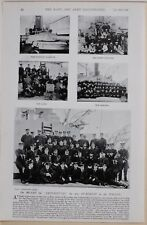 1896 BOER WAR ERA ON BOARD IMPERIEUSE FLAGSHIP IN PACIFIC MARINES PETTY OFFICERS