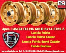 4 Cerchi Lancia Fulvia CD28 Design Felgen 6x14 gold TÜV wheels Jantes Oro
