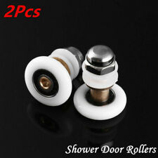 2Pcs Oval-edge Shower Door Rollers Wheels Bathroom Door Runners Pulleys 25/27mm
