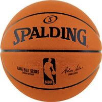 Spalding NBA Replica Game Ball Series Composite Leather Basketball [Size 7]