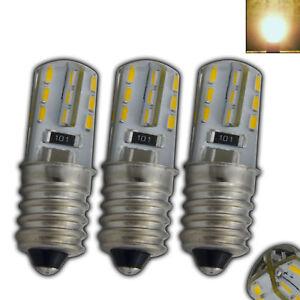3x E14 mini LED 1,5 Watt - 230V warmweiß Lampe Leuchtmittel Kühlschrank