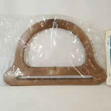 Vintage Fibre-Craft Plastic Purse Handles #4834 Brown Macrame Sewing Tote