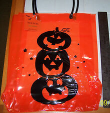 NWT Trick Or Treat HALLOWEEN Candy Tote Bag Orange PUMPKINS