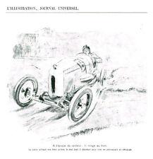 Publicité ancienne voiture automobile cyclecar le virage au frein issue magazine