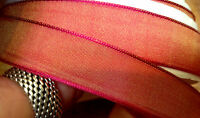 "VINTAGE  5/8"" - 7/8"" or 1.5"" FRENCH RIBBON GOLDEN MAGENTA  1yd Made in France"