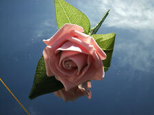 Wedding flowers pink rose buttonhole x 6 diamante, pearls...choice of colours
