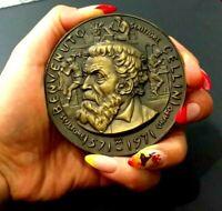 Mario Moschi Splendid medal Famous Italian goldsmith, sculptor Benvenuto Cellini