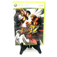 Street Fighter IV Microsoft Xbox 360 Complete Game Case Manual Excellent!
