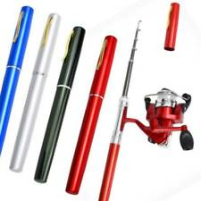 Outdoor Mini Fishing Rod Telescopic EDC Portable Aluminum Alloy Pen Fishing Rod