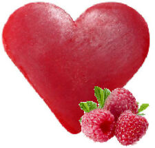 """"""""""" SPECIAL OFFER """"""""   3 x Raspberry Heart Shaped Guest Soaps - FREE P+P"""