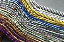 """Hematite Gemstone Rondelle Spacer Beads 2mm 3mm 4mm 6mm 8mm Smooth Faceted 16"""""""