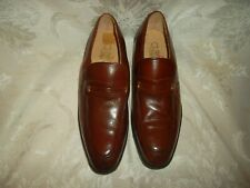 French Shriner size 8 leather slip on shoes