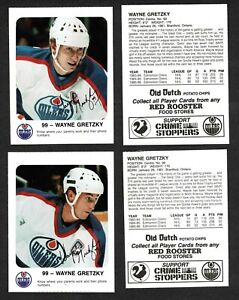 1986-87 Red Rooster Oilers' Wayne Gretzky, Set of Two Different, Mint