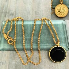 Julie Vos 'Coin' Onyx statement Reversible Necklace - NEW
