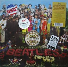 """The Beatles """"Sgt. Pepper's"""" 50th Anniversary 180 G VINYL LP w Stickers as Shown"""