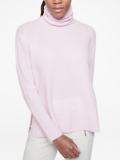 ATHLETA Transit Pullover Turtleneck Sweater XS in Simply Lilac SOFT! Merino Wool