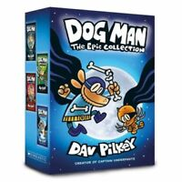 NEW Dog Man The Epic Collection 4 Books Gift Boxed Set Kids Gift by Dav Pilkey!