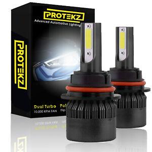 Protekz LED Headlight Low Beam Bulbs for 2013-2016 Cadillac ATS 9012 6000K