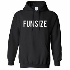 "Short Person Hoodie ""Fun Size"" Novelty Slogan Silly Cute Joke Small"