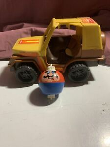 Vintage 1983 Jeep  Dizzy Driver Playschool Complete Spins and works well