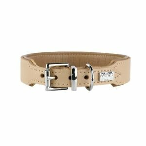 More For By HUNTER Halsband Dog Collar Portland Beige 36.5cm x 2.5cm Brand NEW