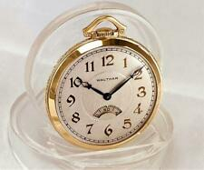 RARE 1931 WALTHAM SECOMETER 17 Jewels Pocket Watch in 14K GOLD FILLED CASE  RUNS