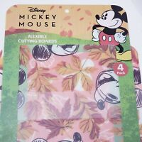 Disney Mickey Mouse 4 Pack Flexible Cutting Boards NEW