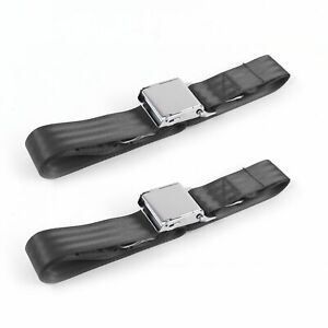 Nash Rambler 1950 - 1954 Airplane 2pt Charcoal Lap Bench Seat Belt Kit - 3 Belts
