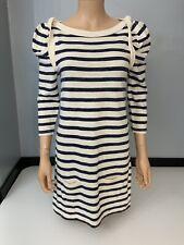 Juicy Couture Blue & Cream Stripe Dress Size Small Uk 8 -10 VGC