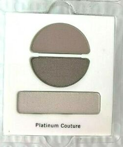 Lancome Ombre Couture Eyeshadow Trio FULL SIZE Refill ~ PLATINUM COUTURE Ret $33