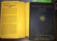 Vintage - Division Officer's Guide 1957. HC/DJ. Second Edition USN