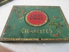 Vintage Lucky Strike Merrie Christmas Holiday Cigarette Tin