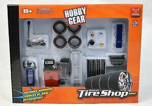 Phoenix Hobby Gear Repair Tire Shop Diorama Set for Diecast Model Toys 1:24
