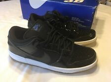2011 Nike Dunk Low Pro SB SPACE JAM PATENT BLACK ROYAL BLUE WHITE 304292-021 Sz7