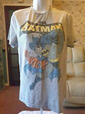 Primark DC Comics Batman Grey T-Shirt Medium Excellent Condition