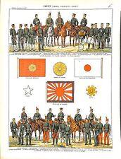 JAPAN JAPON ARMY ARMÉE UNIFORM MAP CARTE FLAG DRAPEAU ILLUSTRATION