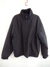 WOOLRICH Mens XL Black Fleece Lined Short Jacket Extra Pockets Zipper Front